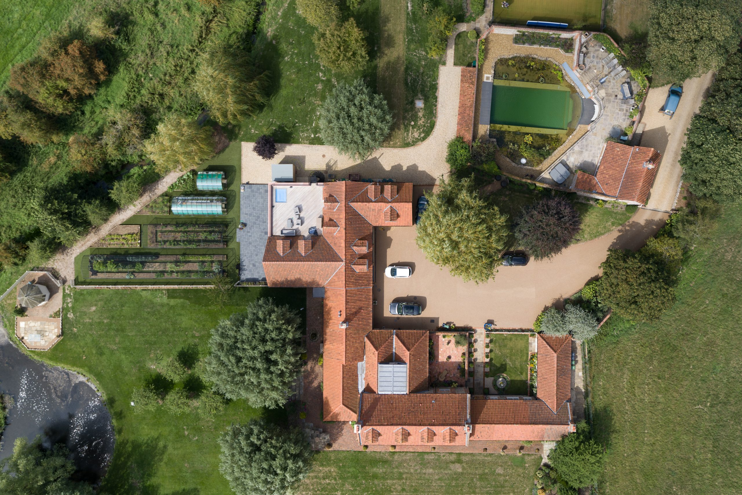 Aerial photography of a property in Norfolk