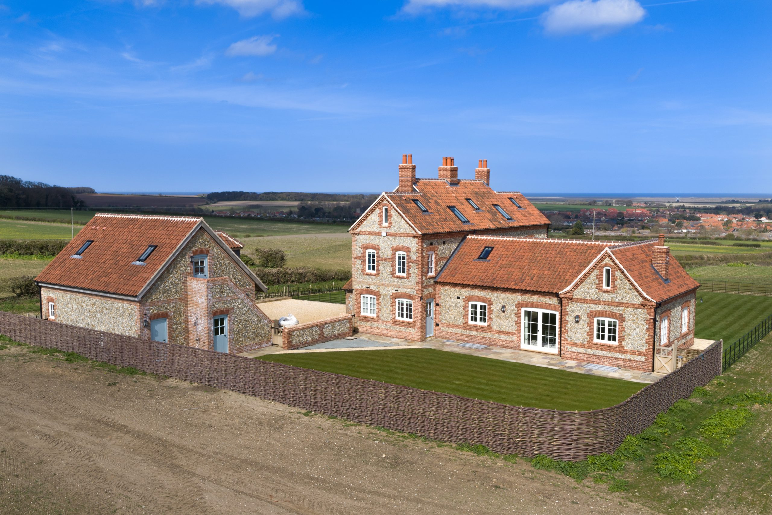 Aerial photograph of a property in Burnham Market